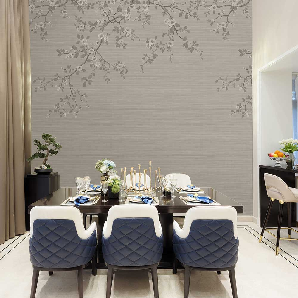 SketchTwenty 3 Oriental Blossom Taupe Mural - Product code: VN01208