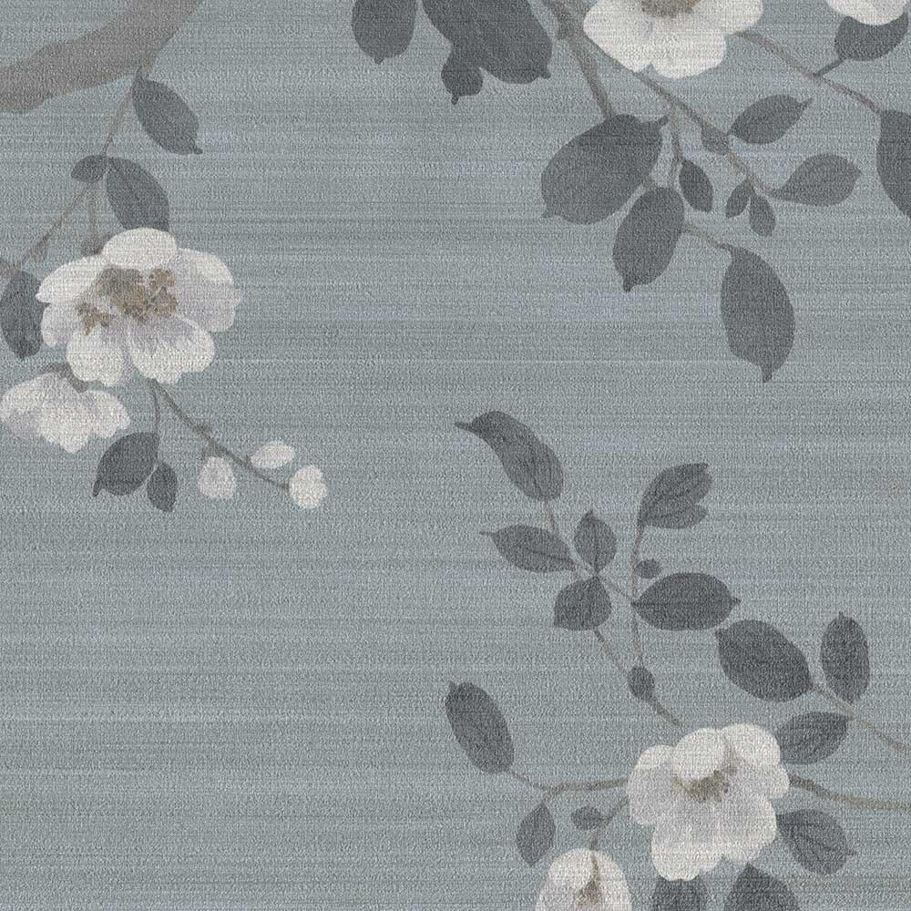SketchTwenty 3 Oriental Blossom Teal Mural - Product code: VN01210