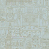 SK Filson London City Teal Wallpaper - Product code: FI2303