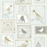 SK Filson Framed Birds Aqua Wallpaper - Product code: FI2502