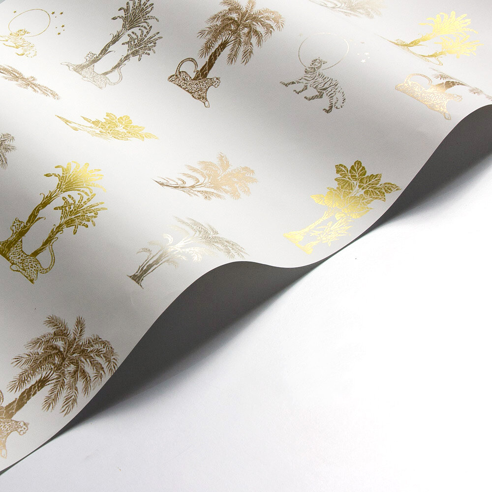 Laurence Llewelyn-Bowen Topical Tropical Neutral / Metallics Wallpaper - Product code: LLB6033
