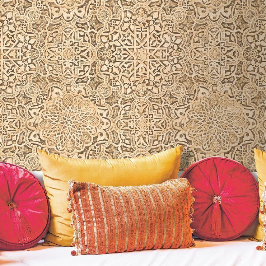Arabesque Wallpaper - Brown - by SK Filson
