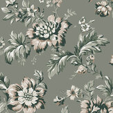 Sandberg Rosenholm Forest Green Wallpaper - Product code: 407-38
