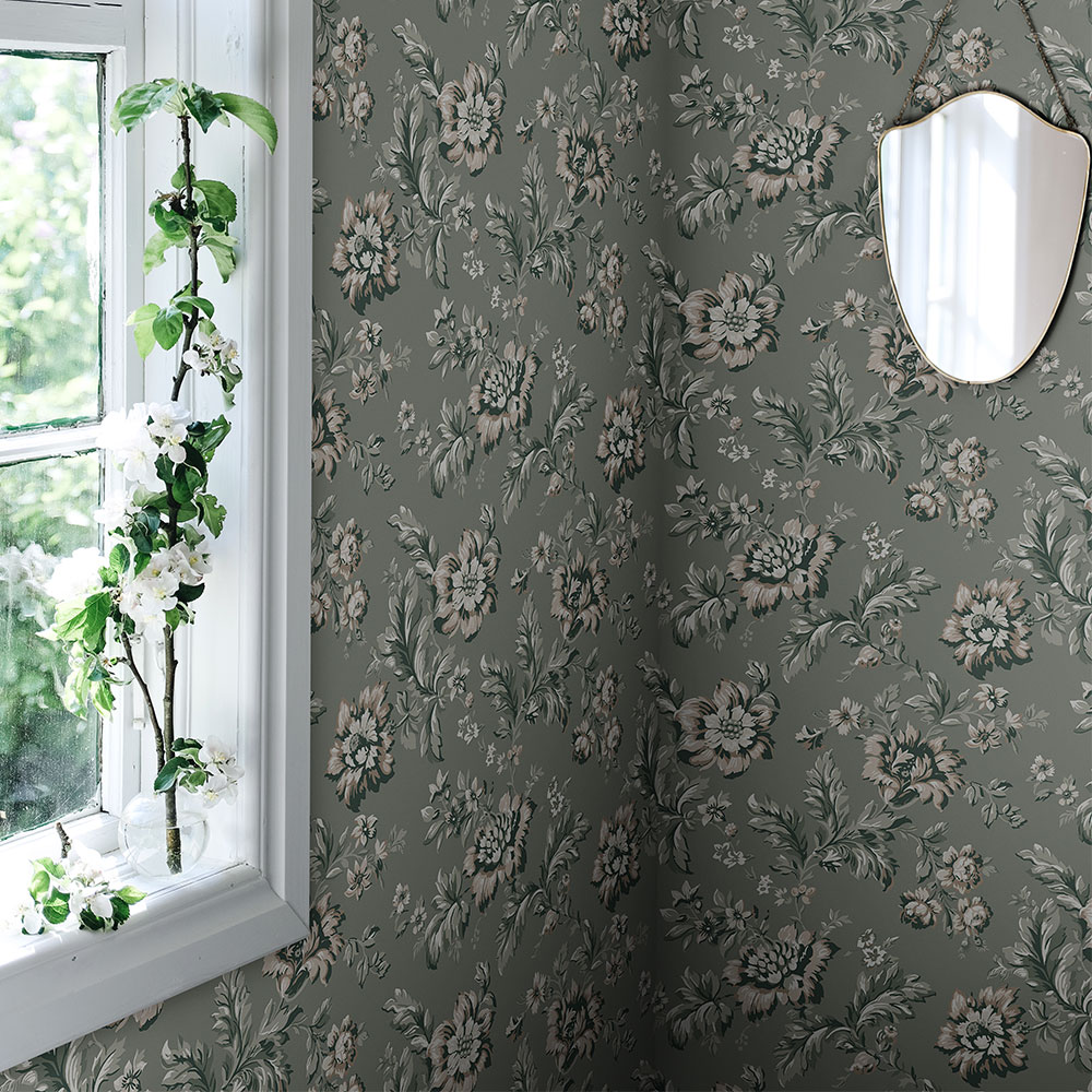 Sandberg Rosenholm Forest Green Wallpaper - Product code: 407-38