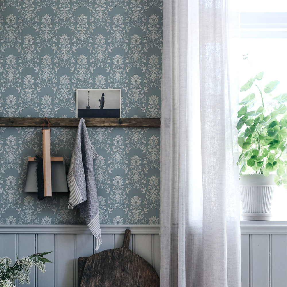 Sandberg Alva Indigo Blue Wallpaper - Product code: 809-36