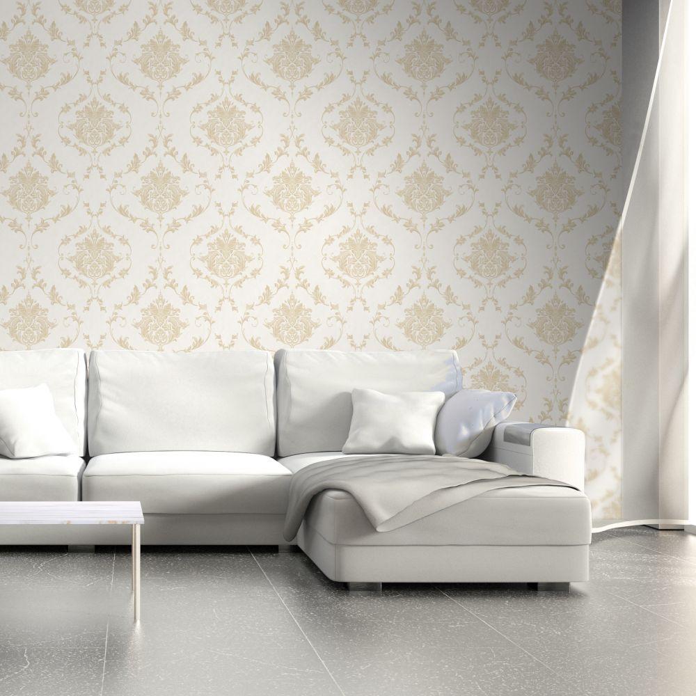 Damask Wallpaper - Gold - by SK Filson