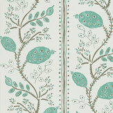 Nina Campbell Pomegranate Trail Aqua/ Taupe Wallpaper - Product code: NCW4390-02