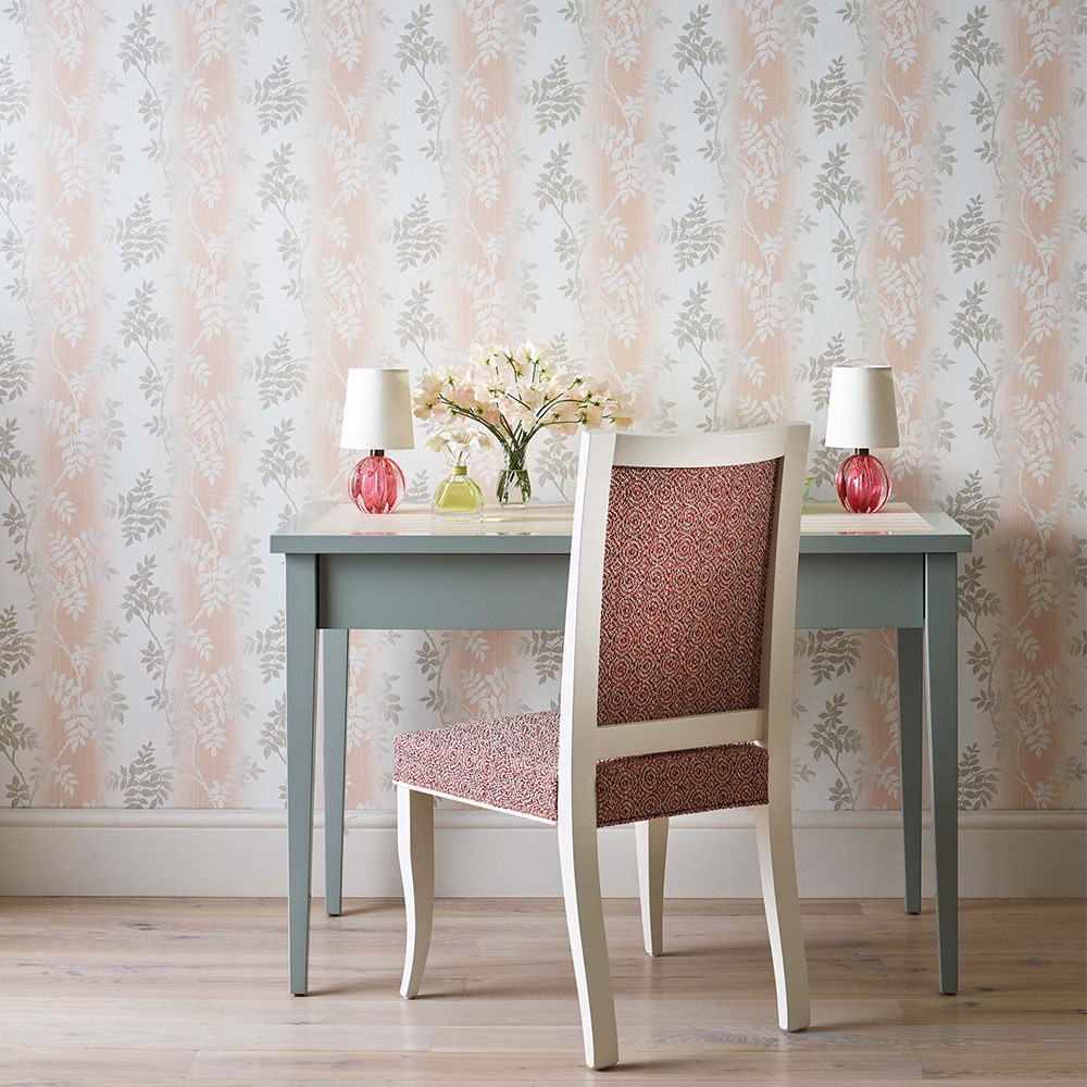 Nina Campbell Posingford Blush/ Grey Wallpaper - Product code: NCW4394-01