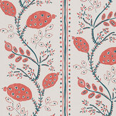Nina Campbell Pomegranate Trail Red/ French Blue Wallpaper - Product code: NCW4390-05