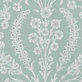 Nina Campbell Chelwood Aqua Wallpaper - Product code: NCW4392-01