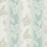 Nina Campbell Posingford Aqua/ Taupe Wallpaper - Product code: NCW4394-03