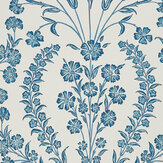 Nina Campbell Chelwood Blue/ Ivory Wallpaper - Product code: NCW4392-05