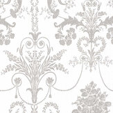 Laura Ashley Josette  White / Steel Wallpaper - Product code: 3668911