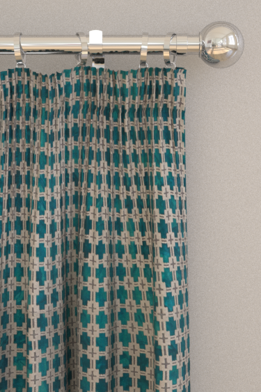 Clarke & Clarke Maui Kingfisher Curtains - Product code: F1302/01