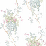 Laura Ashley Wisteria Pistachio / Duck Egg Wallpaper - Product code: 3661974