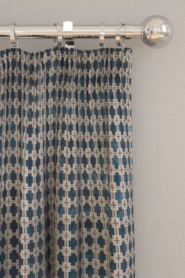 Clarke & Clarke Maui Midnight Curtains - Product code: F1302/02