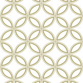 Graham & Brown Eternity White / Gold Wallpaper - Product code: 104065