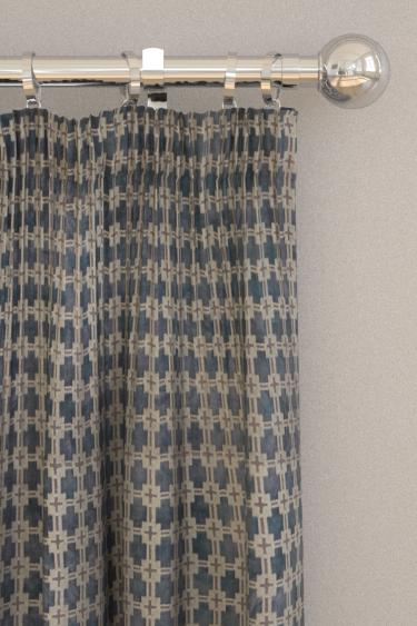 Clarke & Clarke Maui Slate Curtains - Product code: F1302/05