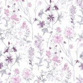 Laura Ashley Wild Meadow Pale Iris Wallpaper - Product code: 3725988
