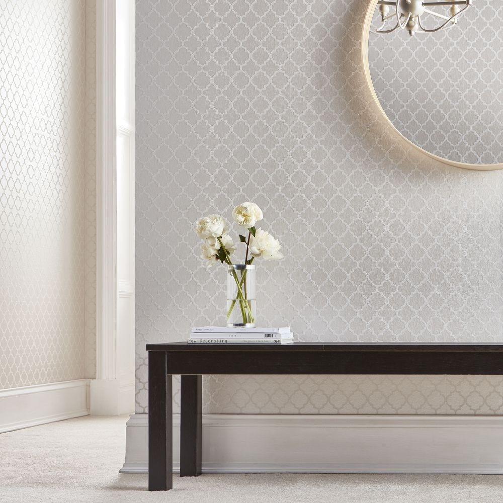 Graham & Brown Trelliage Bead Pearl Wallpaper - Product code: 105125