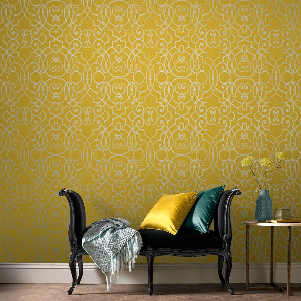 Graham & Brown Shoji Saffron Wallpaper - Product code: 105234