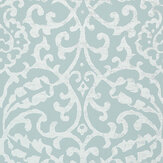 Nina Campbell Brideshead Aqua Wallpaper - Product code: NCW4396-03