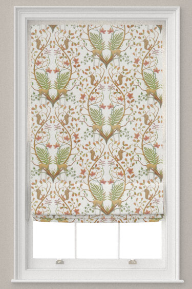 Woodland Trail Fabric - Cream - by The Chateau by Angel Strawbridge