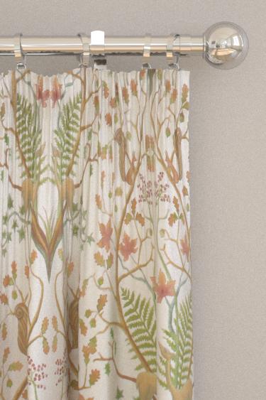 The Chateau by Angel Strawbridge Woodland Trail Fabric Cream Curtains - Product code: WON/TRL/14000FA