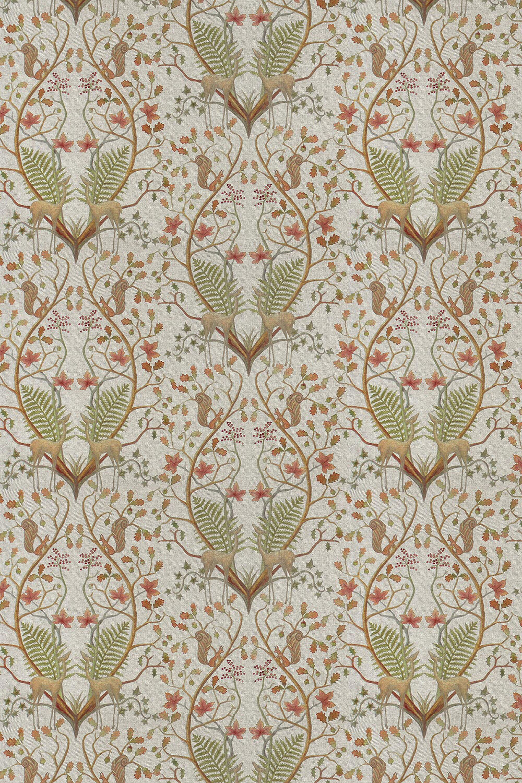 Woodland Trail Fabric - Linen - by The Chateau by Angel Strawbridge