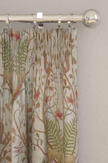 The Chateau by Angel Strawbridge Woodland Trail Fabric Linen Curtains - Product code: WOC/TRL/14000FA
