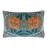 Morris Honeysuckle and Tulip Velvet Cushion  Woad/ Mulberry - Product code: 257204