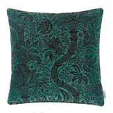 Morris India Flock Velvet Cushion  Cerulean/ Walnut - Product code: 258195