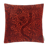Morris India Flock Velvet Cushion  Russett/ Mulberry  - Product code: 258196