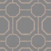 Graham & Brown Sashiko Rose Gold / Grey Wallpaper - Product code: 105773
