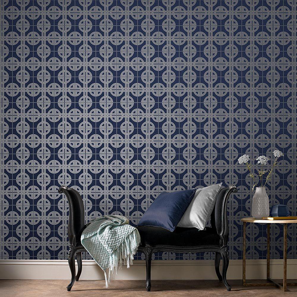 Graham & Brown Asian Lattice Sky Wallpaper - Product code: 105779