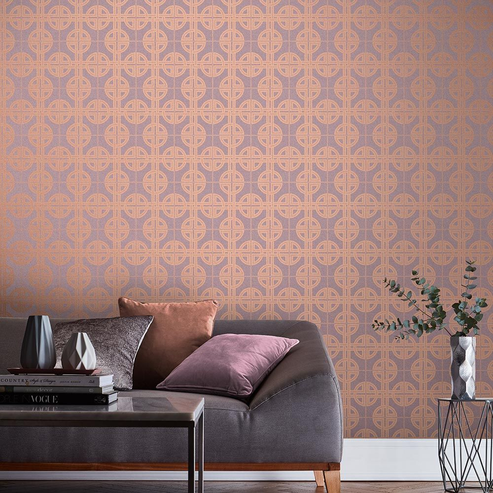 Graham & Brown Asian Lattice Blush Wallpaper - Product code: 105782