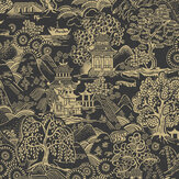 Graham & Brown Basuto Black / Gold Wallpaper - Product code: 105929