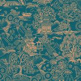Graham & Brown Basuto Teal Wallpaper - Product code: 105932