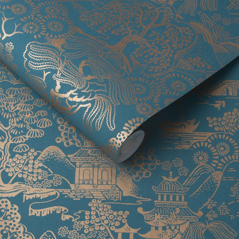 Graham & Brown Basuto Teal Wallpaper - Product code: 105932