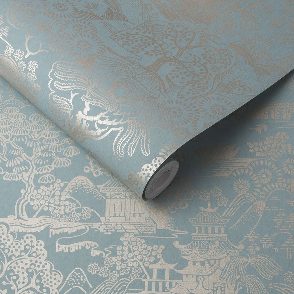 Graham & Brown Basuto Duck Egg Wallpaper - Product code: 105933