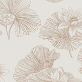 Graham & Brown Lotus Cream Wallpaper - Product code: 105934