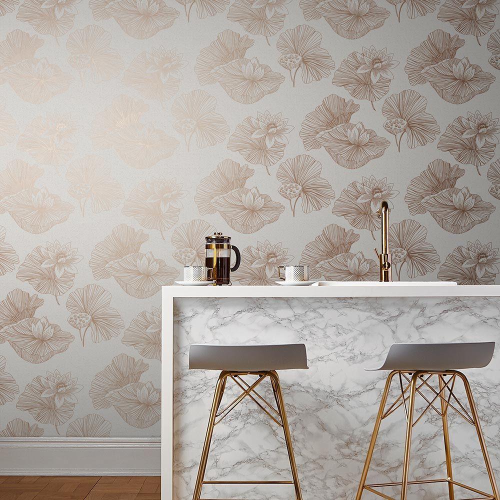 Graham & Brown Lotus Cream Wallpaper - Product code: 105934