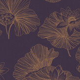 Graham & Brown Lotus Plum Wallpaper - Product code: 105936