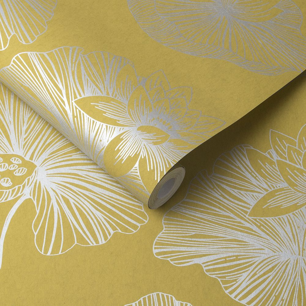 Lotus Wallpaper - Summer - by Graham & Brown