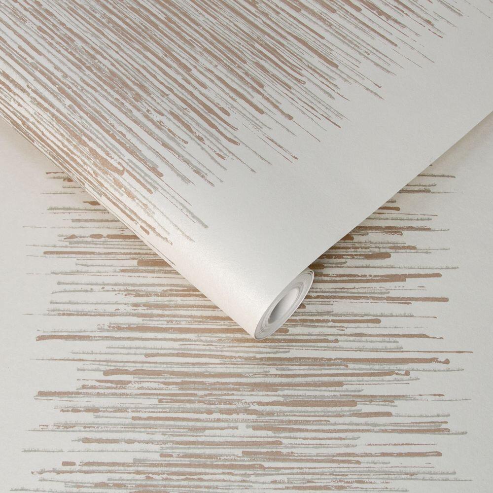 Graham & Brown Tornado Stripe White Wallpaper - Product code: 106392