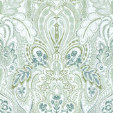 Laurence Llewelyn-Bowen Damask Dangereuse Green Tea Wallpaper - Product code: LLB6026