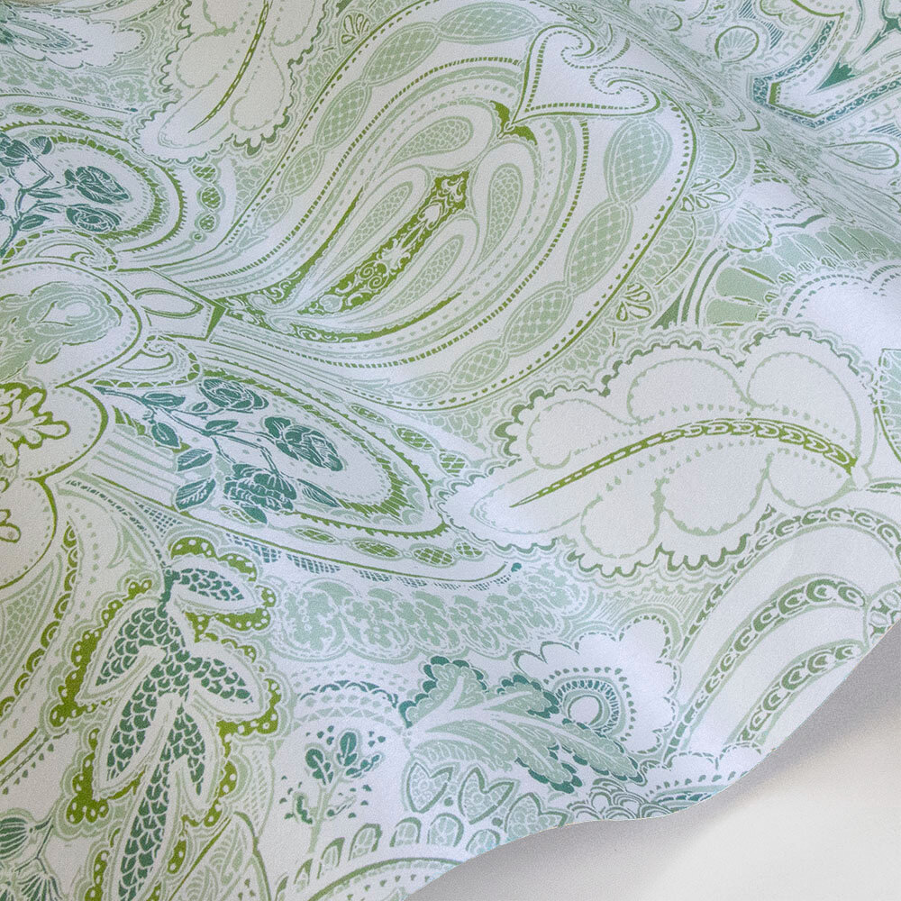 Laurence Llewelyn-Bowen Damask Dangereuse Green Tea Wallpaper - Product code: LLB6026