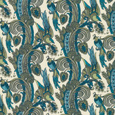 Laurence Llewelyn-Bowen Fantoosh Green / Blue Wallpaper - Product code: LLB6029