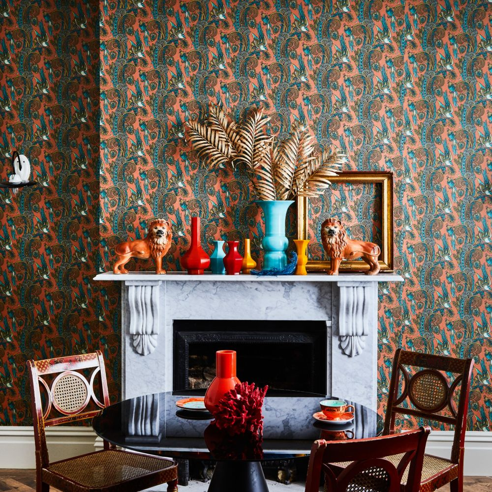 Fantoosh Wallpaper - Spiced icing - by Laurence Llewelyn-Bowen