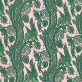 Laurence Llewelyn-Bowen Fantoosh Green / Pink Wallpaper - Product code: LLB6032
